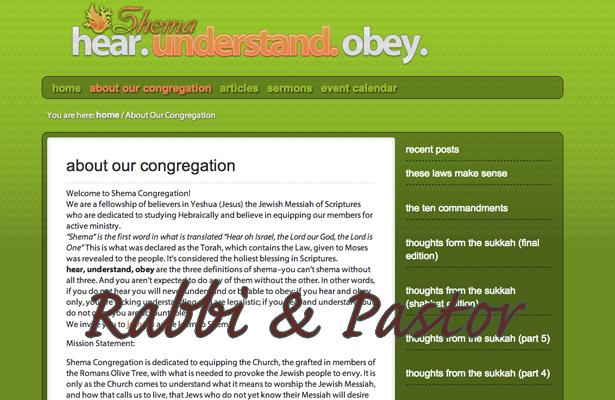Rabbi and Pastor
